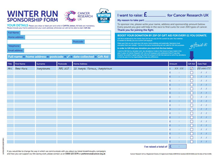 Sponsorship Form  Winter Run