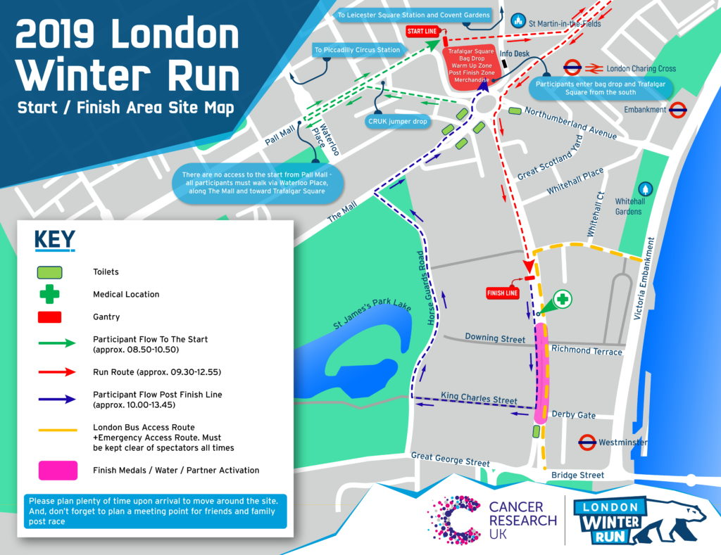 Map Around London.Site Map Winter Run
